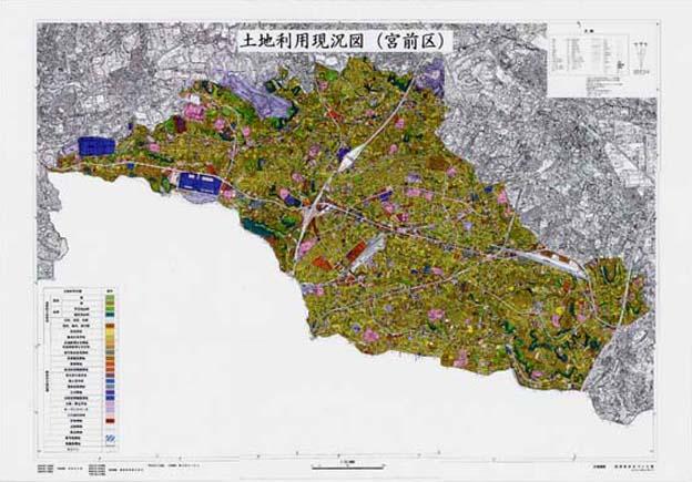 川崎市:土地利用現況図