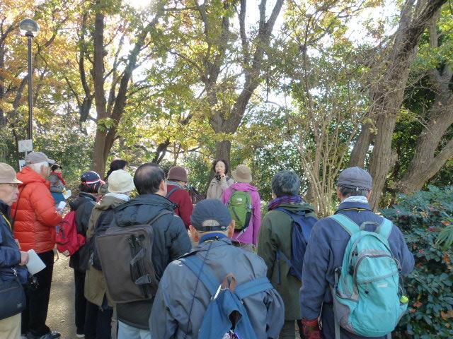 万福寺檜山公園での説明