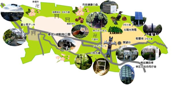 夢見ヶ崎周辺地図