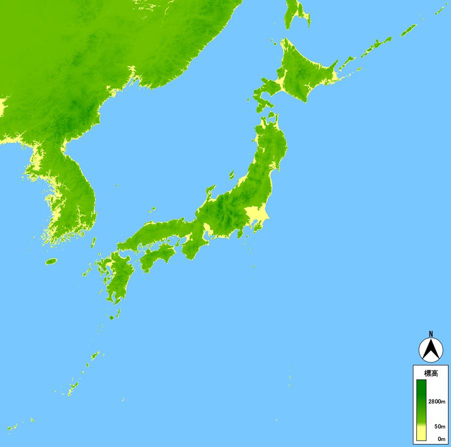 前へ 日本列島 地図画像集